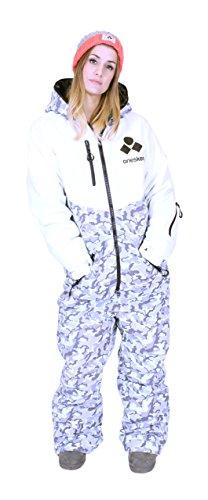 Oneskee Mark III Damen Schi Anzug Camouflage weiß W4