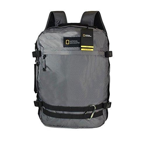 Zaino Cabina 55 cm Con Maniglia Laterale Porta Pc e Tablet | National Geographic Nat Geo-Hybrid | N11801-Grigio