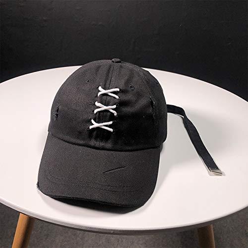 GMZXX Baseballmütze Mode Schnürsenkel Kreuz Verband Baseballmütze Mode Herbst Hüte Männer Frauen Outdoor Caps Mode Schnell trocknende Baseballmütze Einstellbar 2