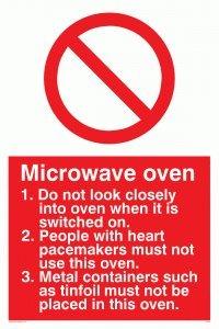 """Viking Schilder pm187-a5p-pv """"Mikrowelle"""" Rules Zeichen, Foto Leuchtziffern Aufkleber, 200Mm H x 150mm W"""