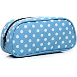 Blue : HOYOFO Womens Makeup Pouch For Cosmetics Toiletries Travel Accessory Organizer Cosmetic Bags, Blue