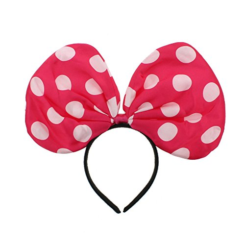 Zac s Alter Ego   Large Polka Dot Bow on Headband - World Book Day Hen Parties