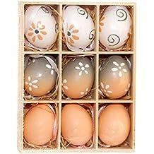 DANTB Macarons pasquali, ornamenti pasquali, giocattoli per Bambini, uova in plastica da 4
