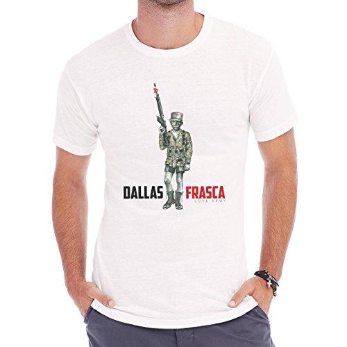 Dallas Frasca Love Army Print Herren T-Shirt Weiß