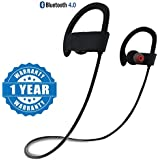 Captcha Qc10 Bluetooth Headset Runner Headset Sport Stereo Sweatproof Earphones With Mic And Earhook (Assorted Colour)