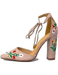 Créations Kalra Des Femmes Traditionnelles Faux Cuir Avec Partie Chaussures Indiennes Brodé, La Couleur, La Taille 39 Eu