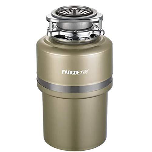 Triturador de desperdicios de alimentos, desperdicios de alimentos, trituradora de basura automática de fregadero, 0.76 hp / 4000 rpm, capacidad de 1,2 litros Ultra bajo silenciador de basura