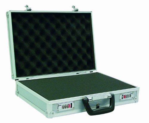 Viso stc901p Aluminium Rahmen Koffer mit vorgestanztem Schaumstoff–Silber