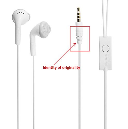 100 % samsung headphone original Samsung Galaxy J7 Prime Earphone / headphone / Handfree / Headset WIth Mic / 3.5mm Jack and Original Earphone like Performance Best High Quality Sound Earphones - White all mobile android support