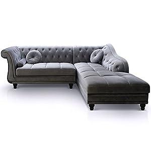 Informations Techniques :Dimensions :Dimensions de l'assise : H. 32 cmDimensions du Canapé & Méridienne : L. 240 cmDimensions du Canapé seul : L. 150 x P. 72 x H. 80 cmDimensions de la Méridienne seule : L. 180 x P. 90 x H. 80 cmMatière : Velours... [Méridienne]