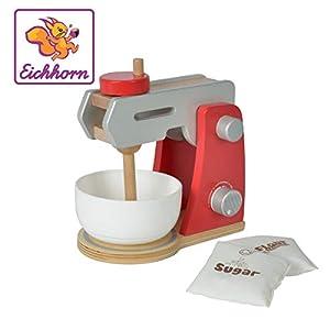 Eichhorn 100002488-Robot de Cocina de Madera con Cuenco para Mezclar y 2x Parte Bolsa, De 4Piezas, 12x 18,5x 19,5cm, Madera de Abedul