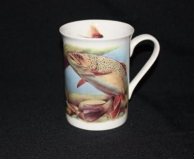 Fine Bone China Fishing Fly Fishing Trout Angling Mug Cup Gift from OAKS KABIN