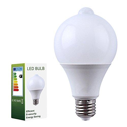 Pack de 1 Edison Bombillas E27 9W LED Sensor de Movimiento PIR...