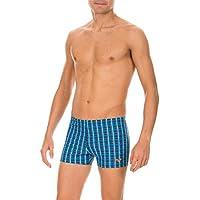 Arena 1B182 Printed Check Boxer da Mare, per Uomo, Colore Blu (Navy), Taglia 52 IT (7 DE)