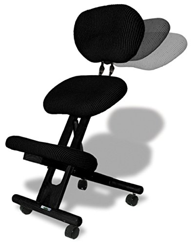 Silla ergonómica Cinius Cinius profesional color negro con respaldo