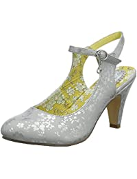86afb42fde1ece Joe Browns Womens Silver Floral Shoes with Charm