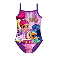 Koo-T Girls One Piece Swimsuit Character Swimming Costume Size Age 2 3 4 5 6 Years Official Licensed (Shimmer & Shine (037), 2-3 Years)