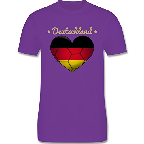 Handball - Handballherz Deutschland - Herren Premium T-Shirt Lila