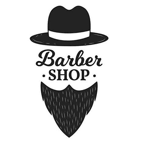 Mann Barber Shop Aufkleber Hacken Brot Aufkleber Haarschnitt Poster Vinyl Wandkunst Aufkleber Dekor Fenster Dekoration Wandbild 35x58CM