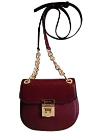 Sac Michael Kors Cuir Cecelia Sizes Women Bag Merlot Red 18 * 16 * 7cm Neuf