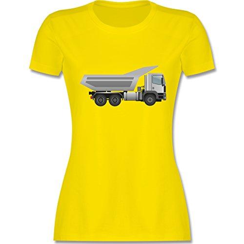Andere Fahrzeuge - Muldenkipper Wannenkipper - tailliertes Premium T-Shirt mit Rundhalsausschnitt für Damen Lemon Gelb