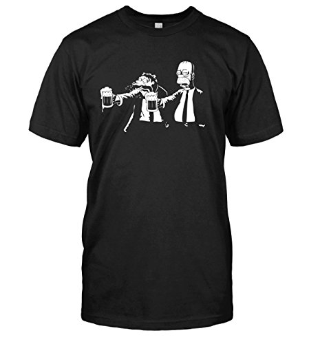 The Simpsons T-Shirt Banksy Style Pulp Simpson Top Tee (Large, Black) (Simpsons T-shirts Tees)