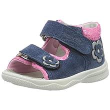 Superfit Baby Girls' Polly Sandals, Blue (Blau/ROSA 81), 5.5 UK