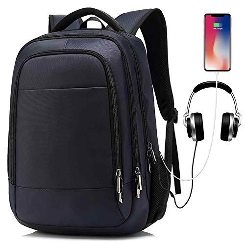 Laptop Rucksack mit USB Ladeanschluss, UBaymax 15,6 Zoll Oxford Wasserdicht Notebook Rucksack Reiserucksack, Unisex 32 L College Daypack Schulrucksack für Business, Casual, Herren, Damen (Blau)