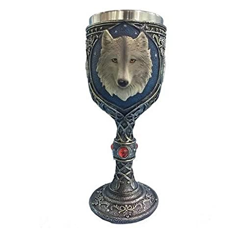 Stainless Steel Creative 3D Wolf Head Coffee Cup Goblet Cup
