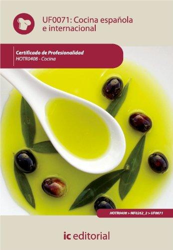 Cocina española e internacional. HOTR0408 por Fernanda Delgado González