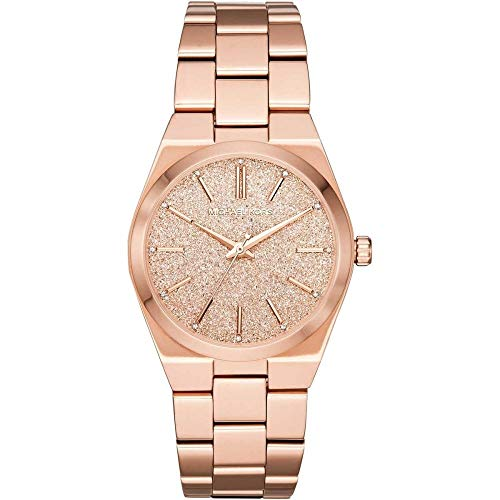 Michael Kors Damen-Uhren Analog Quarz One Size Rosé Edelstahl 32001209