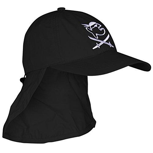 iQ-Company Kinder UV Mütze 200 Cap und Neck, Black, One Size, 3283152800-OS
