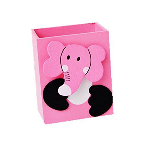 Organizer da scrivania treestar portapenne in legno pot animal portamatite (rosa)