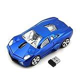 Cool sport Car Shape 2.4GHz wireless mouse 3tasti 1600DPI alta velocità di tracciamento ottico mouse Gaming Mouse USB ricevitore per PC laptop computer