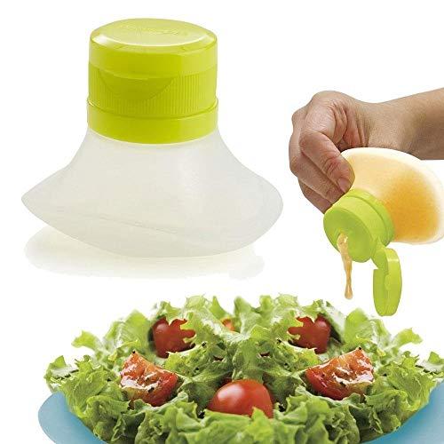 Pawaca condimenti contenitore mini spremere go insalatiera, mini contenitori per alimenti, small dip, condiment, or sauce containers, leak-resistant