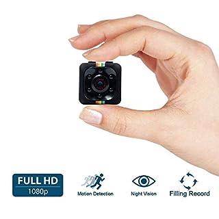 Mini Kamera, UYIKOO 1080P volle HD Mini Surveillance Cam, 12 Million Pixel Überwachungskamera mit Bewegungs Abfragung und InfrarotNachtsicht für Home / Office Indoor / Outdoor Security Kamera