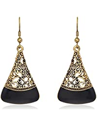 Aventus Oxidised Antique Gold Plated Fashion Earrings, Stylish Party Wear Jewellery For Women & Girls