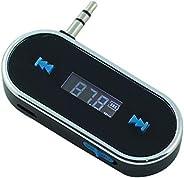 Wireless Car FM Radio Transmitter 3.5mm Audio for iPhone iPod Galaxy S4 MP3 MP4