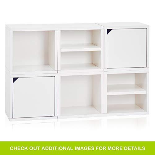 Way basics 6 Modulares 3-in-1 Shelf Connect Cube Storage System, weiß (werkzeuglose Montage und einzigartige Verarbeitung aus nachhaltiger ungiftiger zBoard-Kartonage), Recycled paperboard, One Size - Cube Storage-system