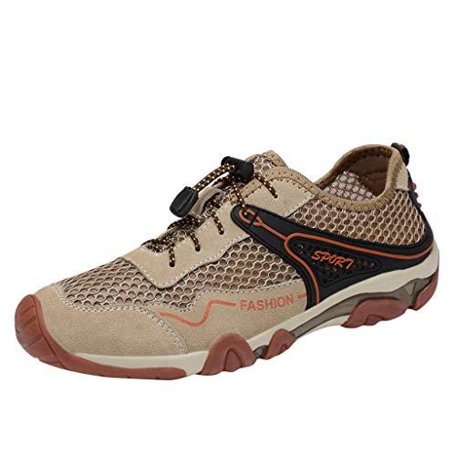 JYJM Freizeitschuhe Atmungsaktive Herren Mesh Outdoor Sneakers Schuhe Herren Slipper Mode Flach Low-Top-Schuhe Turnschuhe rutschfest Bequeme Strandschuhe Toe Herren-schuhe