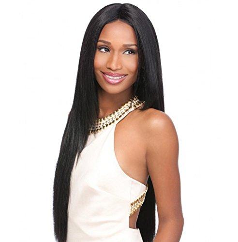 MZP Weibliches Gesicht mit langen glatten Haaren Perücken, echte flauschige gefälschte Haarverlängerung in Europa und Amerika verdickte Cosplay (Gesichts Haar Perücken)