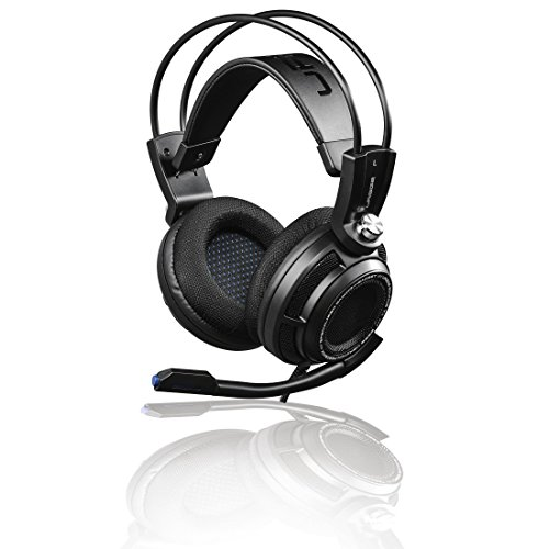 uRage Gaming Headset PC 7.1 (Virtual 7.1 Surround Sound, Full-Stereo Kopfhörer, Bass Vibration, LED-Beleuchtung, USB, extra langes 2,5m Kabel), PC Headset schwarz