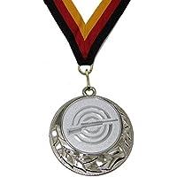 JoGo Medaille Ø70mm Luftgewehr silberfarben mit Band