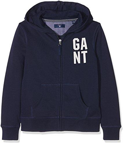 GANT Mädchen Collegiate Full Zip Sweat Hoodie Kapuzenpullover, Blau (Evening Blue 433), 176 Full Zip Sweat
