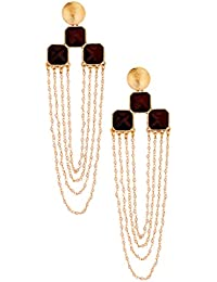 The Jewelbox Long Statement Dangler Earring For Women