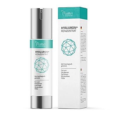 Hyaluronsaeure Konzentrat Gel hochdosiertes Hyaluron Anti Aging Serum 50ml von colibri cosmetics Naturkosmetik made in Germany