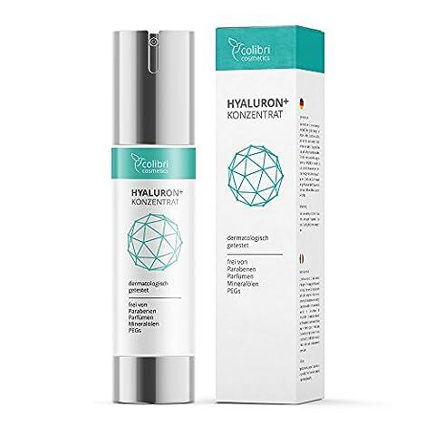 Hyaluronsäure Konzentrat Gel - hochdosiertes Hyaluron Anti-Aging Serum - 50 ml von colibri cosmetics / Naturkosmetik made in