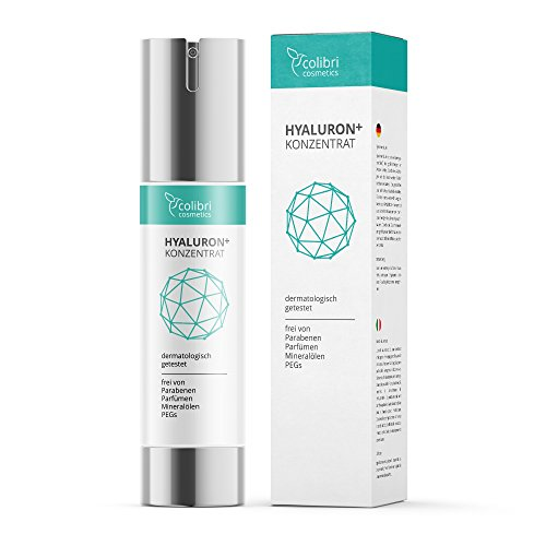 Hyaluronsäure Konzentrat Gel - hochdosiertes Hyaluron Anti-Aging Serum - 50 ml von colibri cosmetics / Naturkosmetik made in Germany