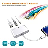 Mlol Lightning zu RJ45 Ethernet Adapter, Lightning auf LAN Kompakt Network Adapter USB 3 Adapter für iPhone/iPad