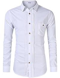 KoJooin Trachten Herren Hemd Trachtenhemd Langarmhemd Freizeithemd Baumwolle - Für Oktoberfest, Business, Freizeit